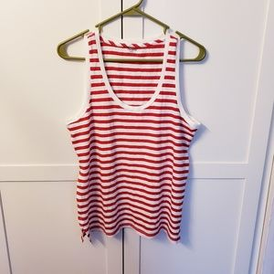 Nwt madewell red stripe tank top small